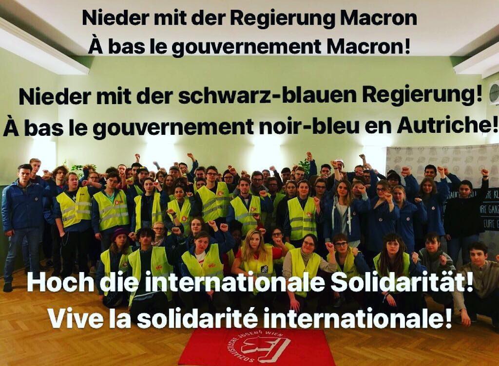 SJ Wien solidarisiert sich mit Forderungen der Gelbwesten in Frankreich